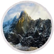 Round Beach Towel featuring the photograph Chamonix by Lucian Capellaro