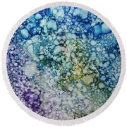 Champagne Bubbles Round Beach Towel