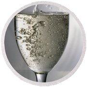 Champagne Bubbly Round Beach Towel