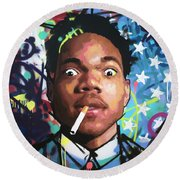 Chance The Rapper Round Beach Towel