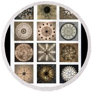 Chandeliers From Chicago Poster Round Beach Towel