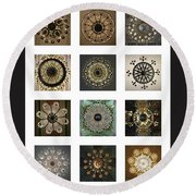 Collection Poster Chandeliers From Russia Round Beach Towel