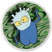 Chane Round Beach Towel by Uncle J's Monsters