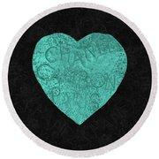 Chanel Heart-4 Round Beach Towel