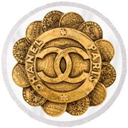Chanel Jewelry-2 Round Beach Towel