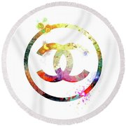 Chanel Logo Round Beach Towel