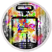 Chanel No. 5  Wooden Round Beach Towel