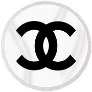 Chanel Symbol Round Beach Towel