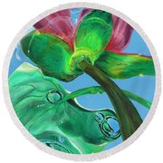 Change Your Perspective Round Beach Towel