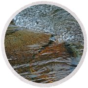 Round Beach Towel featuring the photograph Changes by Lynda Lehmann