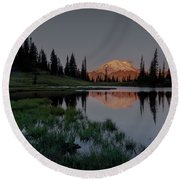 Round Beach Towel featuring the photograph Changing Lights by Gene Garnace