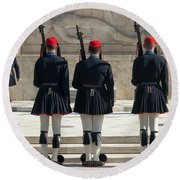 Changing Of The Guards Round Beach Towel