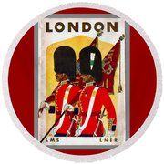 Changing The Guard London - 1937 Round Beach Towel