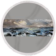 Changing Tide Round Beach Towel