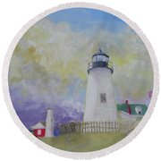 Changing Weather Beauty Round Beach Towel