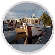 On The South Dock Round Beach Towel