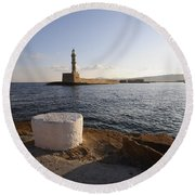 Chania Round Beach Towel