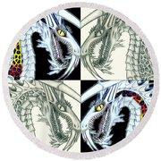 Chaos Dragon Fact Vs Fiction Round Beach Towel