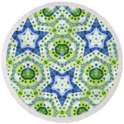 Chaos In Stars Round Beach Towel