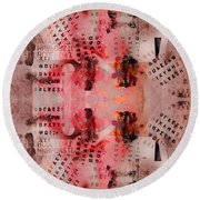 Chaos Numbers And Letters Round Beach Towel