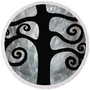 Chaos Tree Round Beach Towel