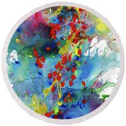 Chaotic Craziness Series 1983.032914 Round Beach Towel