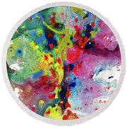 Chaotic Craziness Series 1984.032914 Round Beach Towel