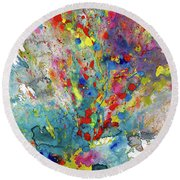Chaotic Craziness Series 1987.032914 Round Beach Towel