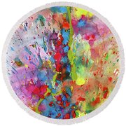 Chaotic Craziness Series 1988.033014 Round Beach Towel
