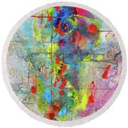 Chaotic Craziness Series 1989.033014 Round Beach Towel