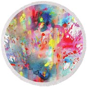 Chaotic Craziness Series 1990.033014 Round Beach Towel