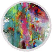 Chaotic Craziness Series 1991.033014 Round Beach Towel