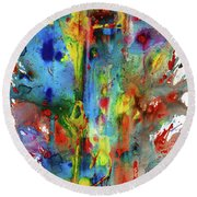 Chaotic Craziness Series 1992.033014 Round Beach Towel