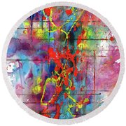 Chaotic Craziness Series 1995.033014 Round Beach Towel