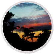 Chapel Hill Afternoon Round Beach Towel