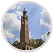 Chapel Hill Bell Tower Round Beach Towel