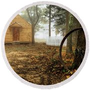 Chapel In The Woods 1 Round Beach Towel
