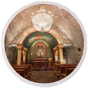 Round Beach Towel featuring the photograph Chapel  by Juli Scalzi