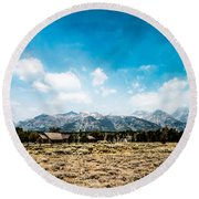 Chapel Of The Transfiguration Round Beach Towel by Cathy Donohoue