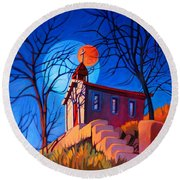 Chapel On The Hill Round Beach Towel