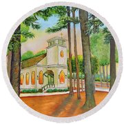Chapel Round Beach Towel