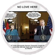 Chapter 10 No Love Here Round Beach Towel by Joe  Palermo