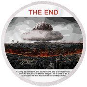 Chapter 20 The End Round Beach Towel by Joe  Palermo