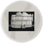 Charles A. Spies Historical Menominee Home. Round Beach Towel by Jonathon Hansen