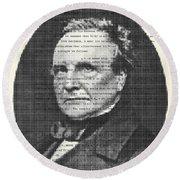 Charles Babbage Round Beach Towel