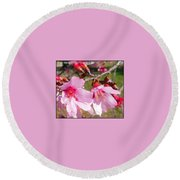 Charleston Azalea Round Beach Towel