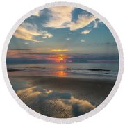 Charleston Coast Sunrise Round Beach Towel