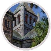 Charleston Historic Church Round Beach Towel