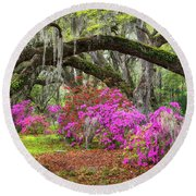 Charleston South Carolina Spring Flowers Lowcountry Landscape Photography Round Beach Towel