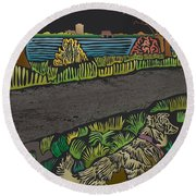 Charlie On Path Round Beach Towel by Kevin McLaughlin